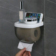 Waterproof Toilet Paper Holder Rack Phone Storage Shelf Box Self-Adhesive