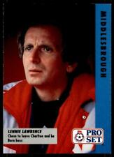 Pro Set Fußball Fixtures 1991-1992 Middlesbrough Lennie Lawrence #34