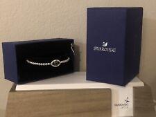 Swarovski Luckily Evil Eye Green Crystal Pearl Bracelet Adjustable New Gift Box