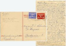 NETHERLANDS MILITARY FORCES MAJ.SCHOUTEN STATIONERY to NEI 1945