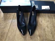 Black suede Love Moschino heels Uk 5 / 38