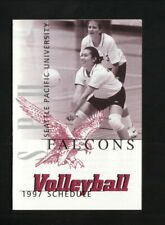 Seattle Pacific Falcons--1997 Volleyball Pocket Schedule--Coke