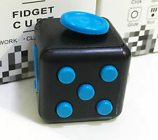 Magic Fidget Hand Finger Spinner Puzzle Cube Anti-anxiety Adults Stress # BLUE