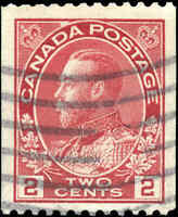 Canada Used 2c 1915-24 F-VF Scott #132 Coil KGV Admiral Stamp