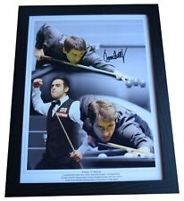 More details for ronnie o'sullivan signed autograph 16x12 framed photo display snooker aftal coa
