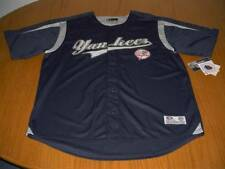 NEW WT MLB NEW YORK YANKEES STITCHED VINTAGE STYLE JERSEY SHIRT MEN XL POLYESTER