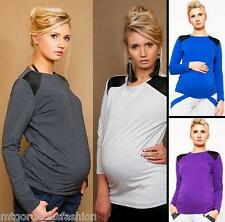 NEW Mutterschaft Damen Casual Tops Bluse Shirt Langarm Größe S M L 8/10/12
