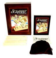 Scrabble Vintage Board Game 2005 Wooden Box Book Shelf Edition 100% Complete EUC