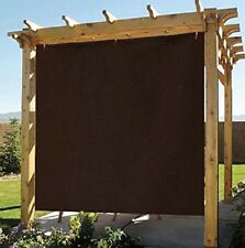 8x8ft Coffee Exterior Privacy Side Sun Shade Panel for Patio Awning Window Cover