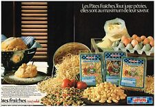PUBLICITE ADVERTISING 095  1982   LUSTUCRU pates fraiches MERE MICHEL (2p)
