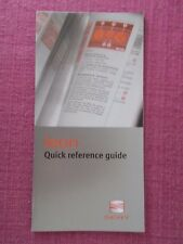 SEAT LEON (1999 - 2005) QUICK REFERENCE GUIDE. NOT HANDBOOK (ACQ 6137)