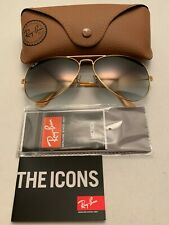 Ray-Ban Aviator Sunglasses RB3026 62mm 001/32 Gold Frame with Gray Gradient Lens