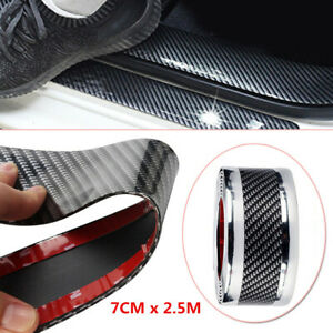 7cmX2.5m Car Truck Door Sill Scuff Welcome Pedal Protect Mat Bumper Fender Cover
