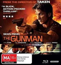The Gunman (Blu-ray, 2015) PENN, BARDEM, ELBA, WINSTONE  Thriller! Watched Once!