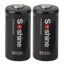 2pcs CR123A 3.0V 1600mAh Primary Battery for Tactical flashlight for Soshine BK
