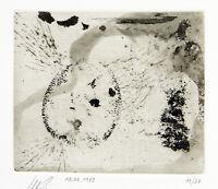 DDR-Kunst. Radierung Klaus SOBOLEWSKI (1962-2006 D) handsigniert, numm. 14/27
