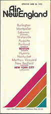 Air New England system timetable 6/28/73 [6091]