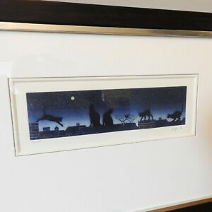Limited Edition Signed Cat Print Framed & Mounted