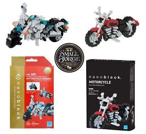 Nanoblock MOTORCYCLE TWIN PACK - NBC-032 & NBM006, NEW