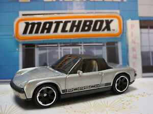 '71 PORSCHE 914 ☆ silver/black ☆ ☆2021 Matchbox LOOSE ☆  Metal 1/64