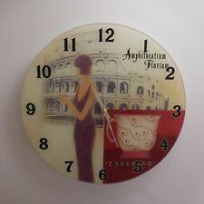 N2750 Horloge pendule HAPPY CASA AMPHITHEATRUM FLAVIUM ITALY art déco PN France