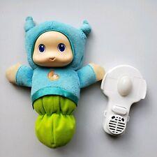 Hasbro Playskool Lullaby Glow Worm Glo Worm NightLight Comforter Music Blue