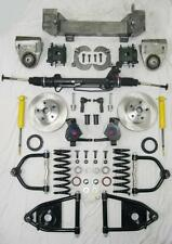 """1949 - 1954 Chevy Mustang II Complete Power Front End Suspension Kit IFS 2"""" Drop"""