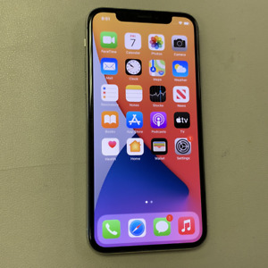 Apple iPhone X - 64GB - Silver (Unlocked) (Read Description) BJ1136