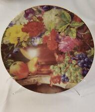 FORMALITIES by BAUM BROS Fine Bohemian Porcelain Plate Czech Republic grapes