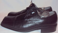 GIRALDI, MEN'S BLACK LEATHER LACE OXFORD, SIZE  10 1/2 M.
