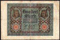 1920 GERMANY 100 MARK BANKNOTE * VG * P-69 * (1)