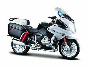 """Maisto 4.5"""" BMW R 1200 RT CHP AUTHORITY POLICE MOTORCYCLE DIECAST MODEL 1:18"""
