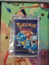 POKEMON 1ST EDITION BASE SET BOOSTER PACK BLASTOISE ARTWORK *UNWEIGHED*SPANISH*