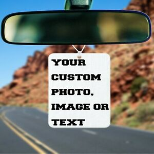 Custom Car Air Freshener, comes w/ free gift & scent optional, Personalized
