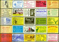25 alte Gasthaus-Streichholzetiketten aus Deutschland #878