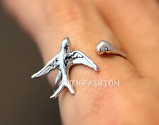Swallow Ring Unique Animal Ring Jewelry Adjustable Funny Wrap Ring gift idea