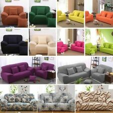 1/2/3/4 Seater Stretch Slipcover Chair Sofa Covers Couch Cover Elastic Protector