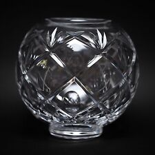"""Waterford Signed Crystal Rossan Rose Bowl 7.5"""""""