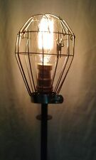 STEAMPUNK  RETRO INDUSTRIAL RECYCLED DESIGNER TABLE  LAMP LIGHT  MAN CAVE
