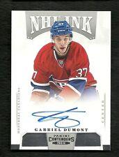 2013-14 Panini Contenders NHL INK Autograph GABRIEL DUMONT