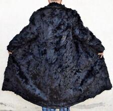 """THE FUR CENTRE Mens Fur Coat GOAT LONG Fur Coat Genuine Cowboy Vintage Chest 49"""""""