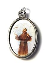 """Saint Francis of Assisi relic 1"""" medal patron of animals the environment"""