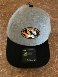 Missouri Tigers NIKE HERITAGE98 Cap One Size Adjustable Gray/Black NWT FAST SHIP