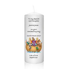 Personalised God Daughter Son Grand Daughter candle christening gift Keepsake