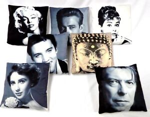 """PRINTED PHOTO CUSHION COVERS HOLLYWOOD STARS & CITY SCENES 17""""X17"""" CUSHION COVER"""