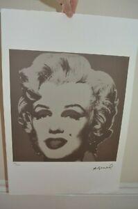 ANDY WARHOL Lithograph Ltd Ed 100 Silver Marilyn LEO CASTELLI ARCHES PAPER 15X22
