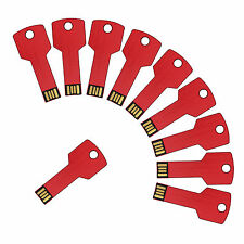 10PCS Metal Key 1GB USB Flash Drive Thumb Memory Stick Storage Flash Pen Drive