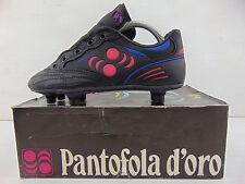 Vintage 80 PANTOFOLA D'ORO Doll 440 Scarpe Calcio 34 Soccer Shoes Boots Italy