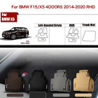 "Full Set 1/2""Thick Solid Nylon Interior Floor Carpet Mats For RHD BMW X5/F15"