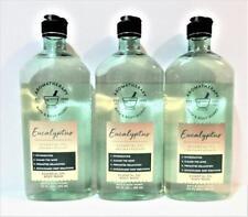 3 Bath Body Works Aromatherapy EUCALYPTUS Essential Oil Body Wash 10 oz